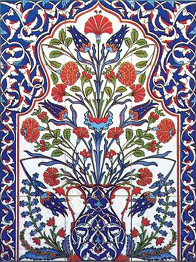 60x80cm Iznik Art Ceramic Tile Wall Panel
