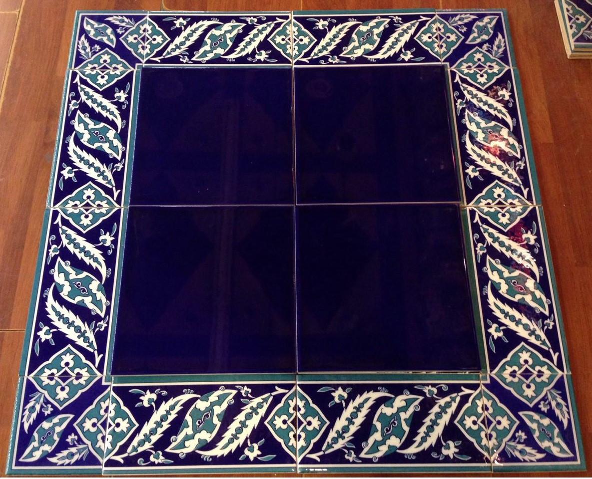 Cobalt Tiles with Border 09