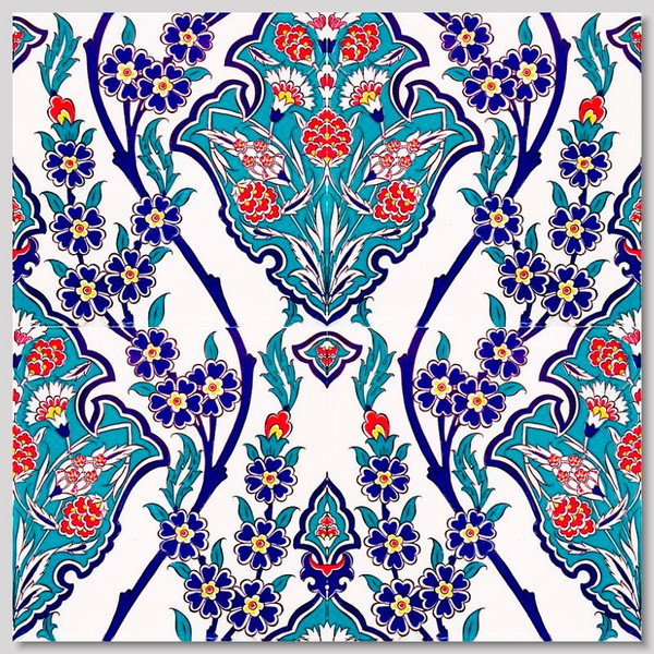 Turkish Iznik Art Ceramic Wall Tiles