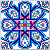 "40x40cm (16x16"") Continuous 4 piece pattern  Wall Tiles for kitchen or bathroom"