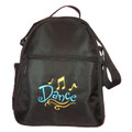Dance shoe bag with embroidered logo