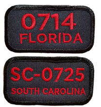 "Sew your Troop Number and State patch ¼"" below the seam on the right sleeve."