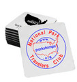 Shown with the National Park Travelers Club large circle logo