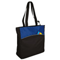 2 tone zippered tote