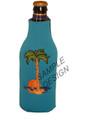 Neoprene zippered bottle koozie