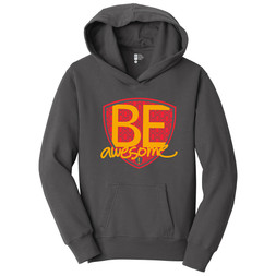 Be Awesome (gray hoodie)