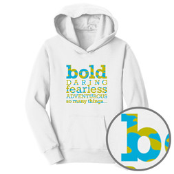 Be Bold (white camo hoodie)