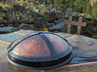 hand forged copper fire pit cover