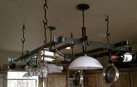 hand forged iron pot rack
