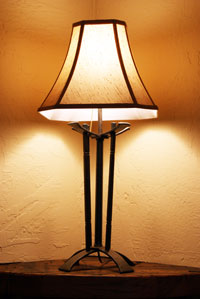 custom hand forged table lamp