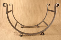 Hand forged mantel straps by blacksmiths at Ponderosa Forge