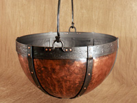 hand forged copper cauldron