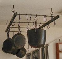 wrought iron pot rack