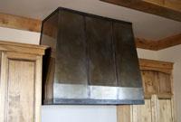 modern steel range hood