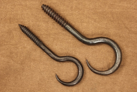 Wrought Iron Hand Forged Ceiling Hooks