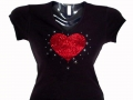 Valentine's Day Swarovski Bling Shirts