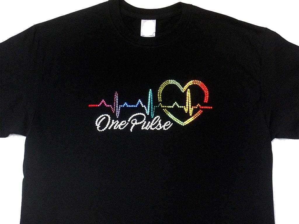 Design Your Own Bling Shirt | One Pulse Orlando Shooting Swarovski Crystal Rhinestone T Shirt