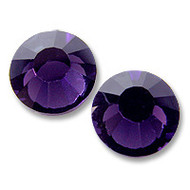 16ss Purple Velvet Genuine Swarovski HotFix 2028 Xilion Crystals 10 Gross Sealed Package Wholesale