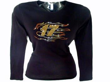 Matt Kenseth #17 Nascar Swarovski Crystal Rhinestone T Shirt