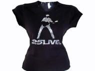 George Michael 25 Live Concert Tour Swarovski Crystal Rhinestone T Shirt