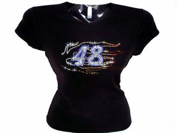 Jimmie Johnson #48 Nascar Swarovski Crystal Rhinestone T Shirt
