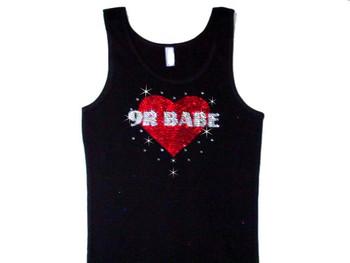 9r Babe Bling Swarovski Sparkly Rhinestone Tank Top T Shirt