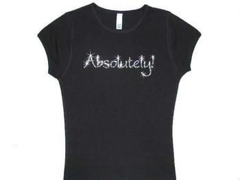 Absolutely! Swarovski crystal rhinestone ladies tee shirt