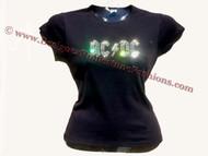 AC/DC Swarovski rhinestone concert t shirt