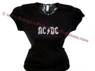 AC/DC rhinestone concert tee shirt