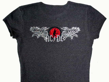 AC/DC rhinestone concert t shirt