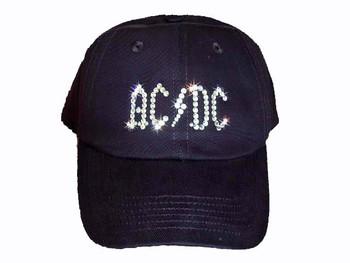AC/DC Swarovski rhinestone baseball cap/ hat
