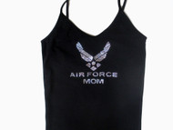 Air Force Mom Swarovski Crystal Rhinestone Camisole, Tank Top or T Shirt