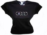 Audi Swarovski Rhinestone Ladies Tee Shirt