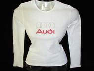 Audi Swarovski Rhinestone Bling Tee Shirt