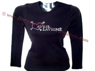 Avril Lavigne Swarovski Rhinestone T Shirt