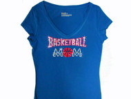 Basketball Mom Swarovski Crystal Rhinestone T Shirt