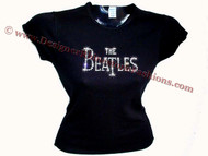 The Beatles Swarovski Crystal Rhinestone T Shirt Top
