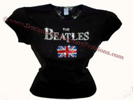 The Beatles Rhinestone Sparkly Concert T Shirt