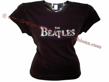 The Beatles Swarovski crystal rhinestone t shirt