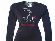 Beauty and the Beast Swarovski Crystal Sparkly Rhinestone Women's T Shirt