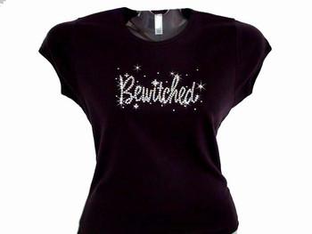 Bewitched Bling Halloween Swarovski Crystal Rhinestone T Shirt