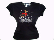 Bewitched TV Show/Movie Logo Halloween Swarovski Crystal Rhinestone T Shirt