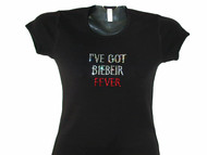 Justin Bieber Fever Swarovski Crystal Rhinestone Sparkly Concert T Shirt
