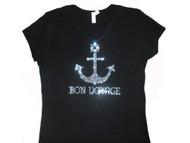 Bon Voyage Swarovski rhinestone sparkly women's t shirt