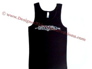 Boston Swarovski Rhinestone Tee Shirt Tank Top