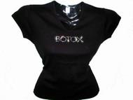 Botox Swarovski Crystal Rhinestone T Shirt Top