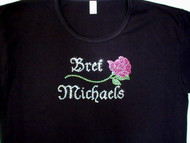 Bret Michaels Swarovski Rhinestone Bling Concert T Shirt