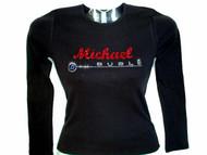 Michael Buble Swarovski rhinestone concert t shirt