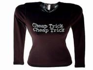 Cheap Trick Swarovski rhinestone concert tee shirt