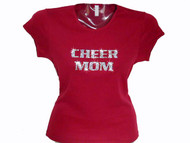 Cheer Mom Swarovski rhinestone t shirt